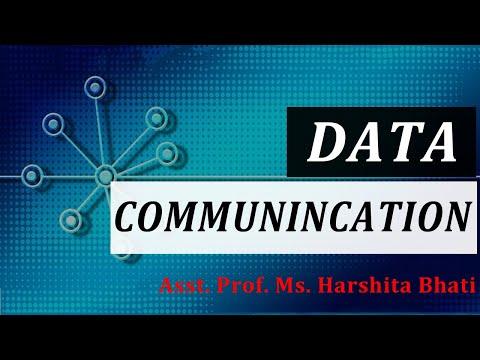 Introduction to Data Communication (Data Communication), MSc IT I Gurukpo