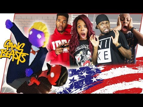 THIS IS CRAZY! THE PRESIDENT OF THE UNITED STATED SUZZIED US!  - Gang Beasts Gameplay