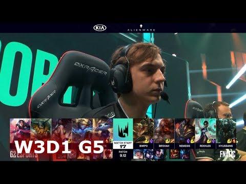 G2 eSports vs Fnatic  Week 3 Day 1 S9 LEC Summer 2019  G2 vs FNC W3D1