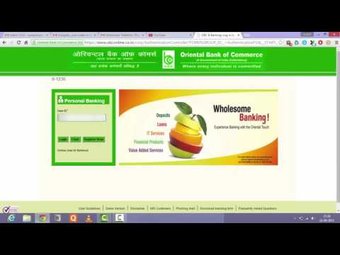 how to start net banking in Oriental Bank of Commerce online