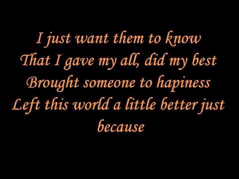 Beyoncé - I was here (lyrics)