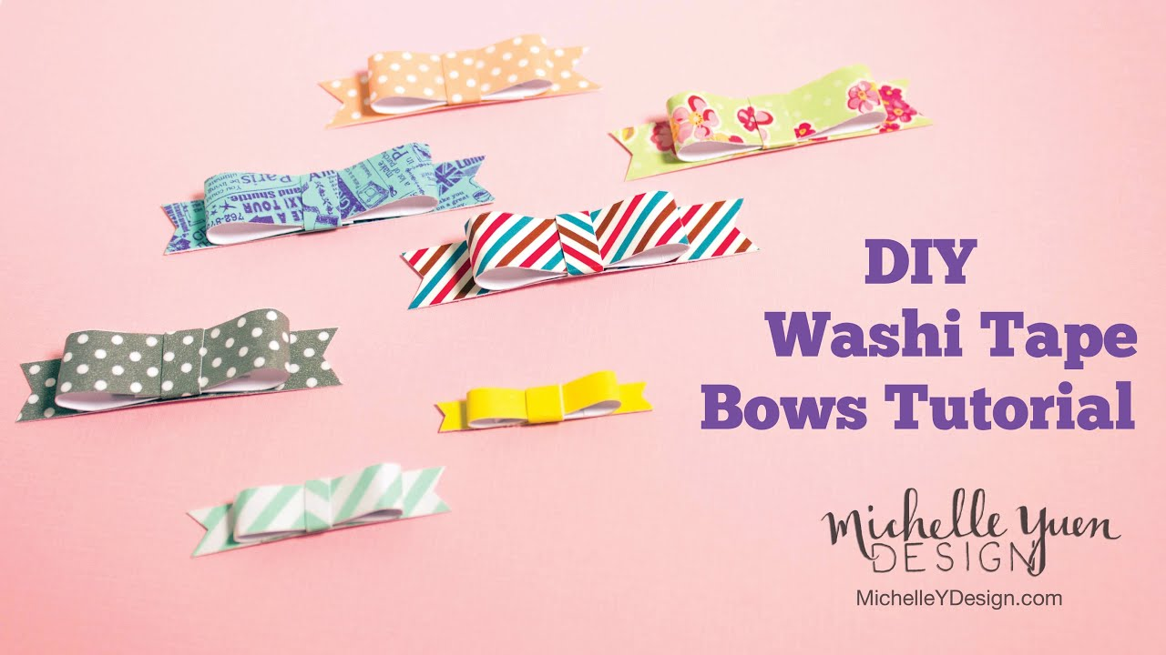 Ben noto DIY Washi Tape Bow Tutorial - YouTube AQ16