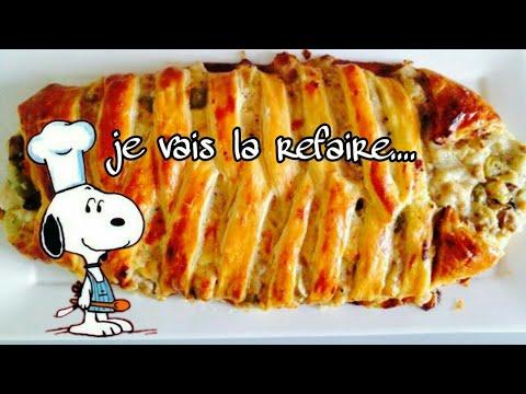 #recette-#famille-❤️recette-:-tresse-au-poulet-,-champignon-et-béchamel