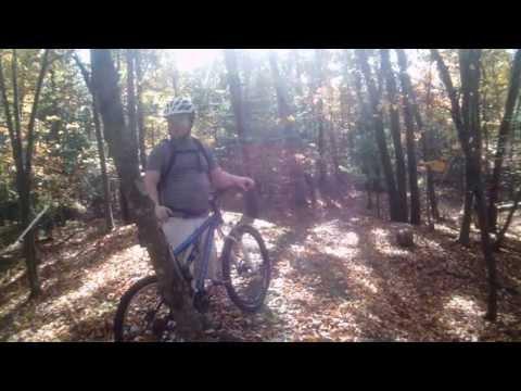 Mountain Biking in Needham Town Forest. Needham, MA 10/19/13 2/3