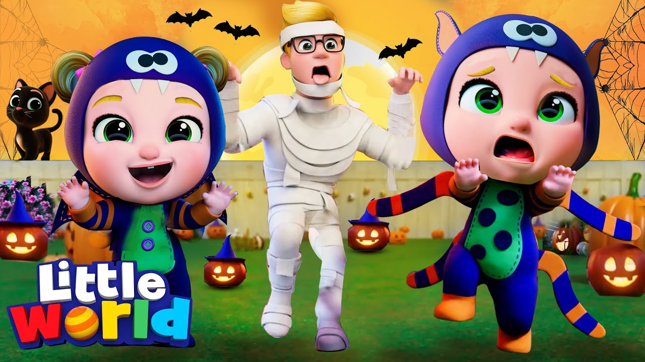 Halloween Song With Nina And Nico | Kids Songs & Nursery Rhymes by Little World