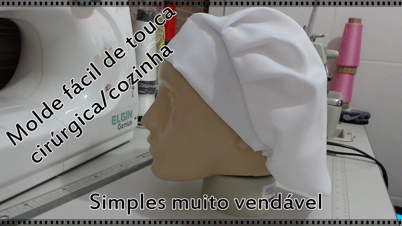 Touca cirúrgica cozinha - Molde fácil e grátis! - YouTube ce5912c1ebe