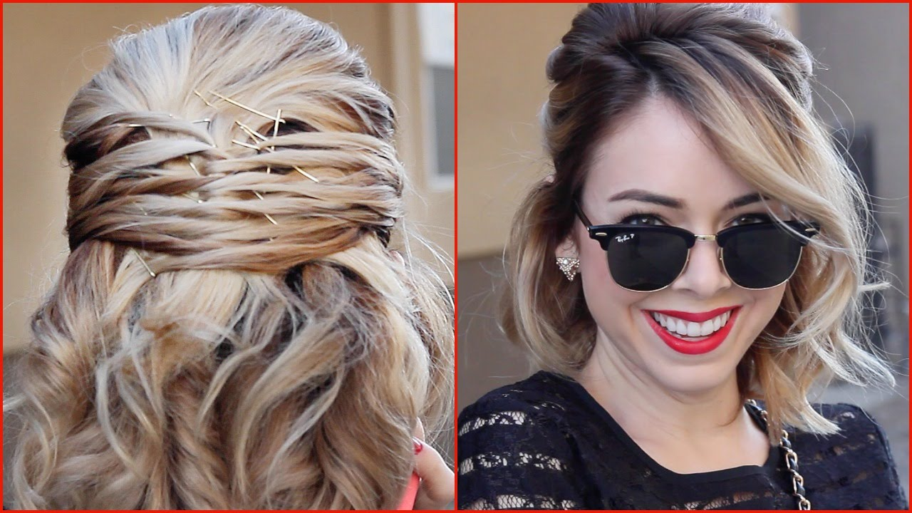 Easy Criss Cross Hairstyle For Short Hair! YouTube