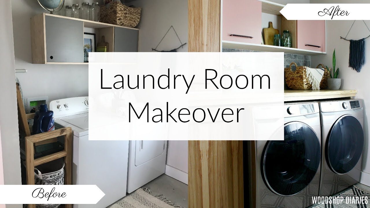 Laundry Room Makeover Before And After Youtube