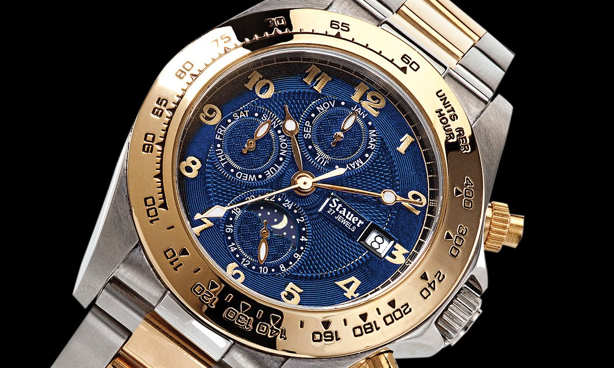 Stauer Corso Blue Dial Automatic Watch Youtube