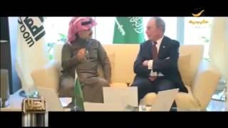 الأمير الوليد بن طلال يجتمع مع مؤسس ورئيس مجلس إدارة بلومبرغ في الرياض