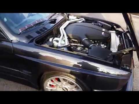 Crazy BMW M3 E30 V10 engine sound