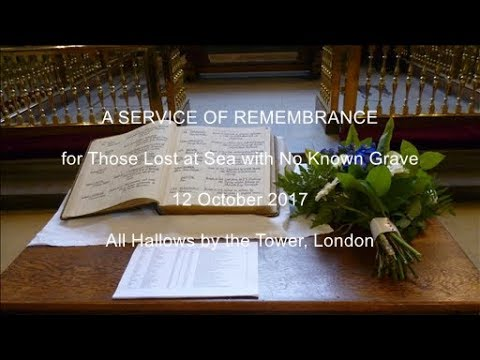 Annual Service of Remembrance for Those Lost at Sea 2017