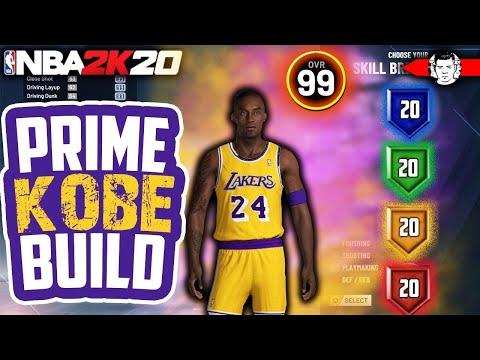 THE BEST BUILD IN NBA 2K20 - 99 OVERALL BLACK MAMBA KOBE BRYANT BUILD