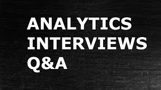 FAQ Answers -1 : Analytics Interview Q&A Discussion | Data Science