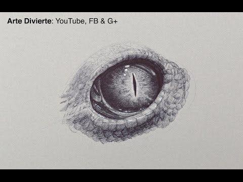 Cómo dibujar un ojo de reptil - con bolígrafo