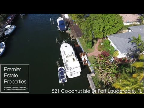 Ft. Lauderdale Real Estate - Luxury Homes for Sale- 521 Coconut Isle Drive Fort Lauderdale, Florida