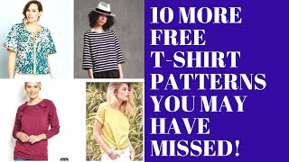 10 More Free T-shirt Patterns You May Have Missed
