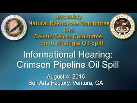 Select Committee on Refugio Oil Spill