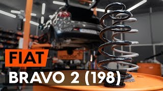How to change rear springs / rear coil springs on FIAT BRAVO 2 (198) [TUTORIAL AUTODOC]