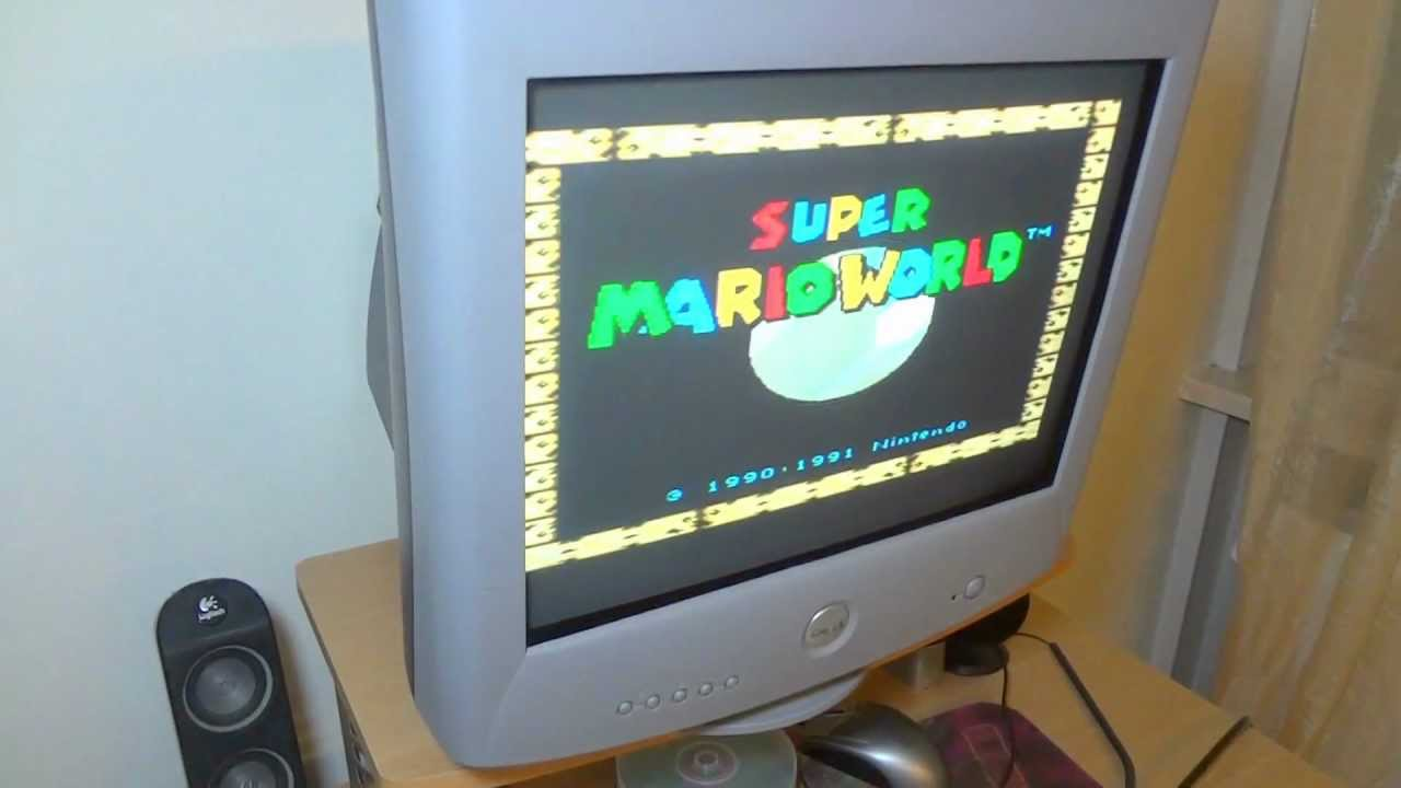 snes to a flat crt svga monitor youtube