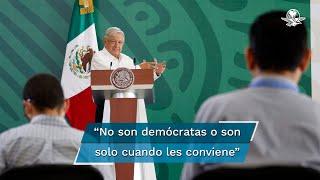A dos días de que se lleve a cabo la consulta popular, el presidente Andrés Manuel López Obrador llamó a toda la población a salir a participar y convertir en un hábito la democracia participativa