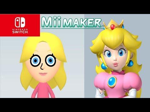 mii maker how to create princess peach from super mario 3d world