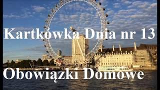 Baixar Kartkówka Dnia nr 13 - obowiązki domowe - sprawdź się! j. angielski