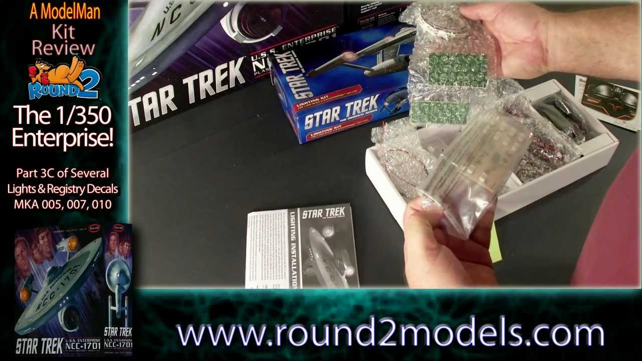 OoB Review: 1/350 TOS Enterprise Pt3C: More Lights & Registry Decals