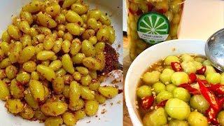 Ăn Thử Nho Lào + Chùm Ruột Ngân Nước Mắm,2 Món Ăn Vặt Thấy Là Thèm