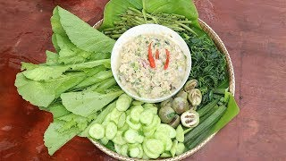 Awesome Cooking Fish With Green Vegetable Recipe - Show Eating Food Delicious - Village Food Factory
