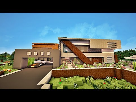 Minecraft Maison moderne ! by Assassine_connor - YouTube