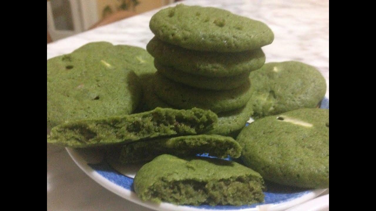 Favorito Matcha cookies biscotti soffici al tè verde - YouTube YI71