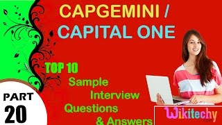 capgemini   capital one top most interview questions and answers for freshers experienced