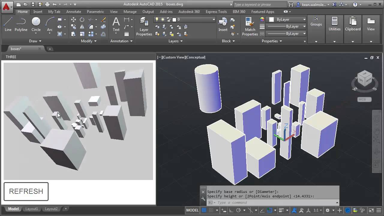 JavaScript in AutoCAD: Viewing 3D solids using Three js - Through