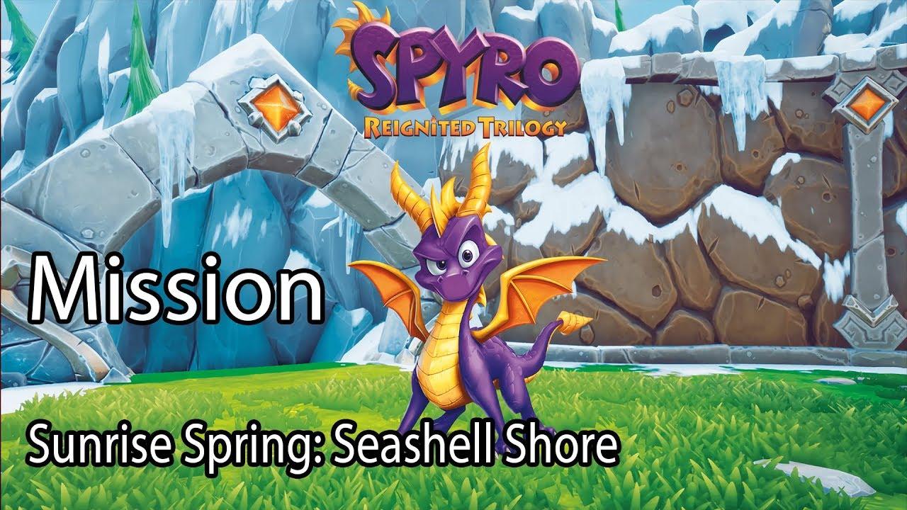 Spyro Reignited Trilogy ( Spyro 3 ) Mission Sunrise Spring: Seashell Shore
