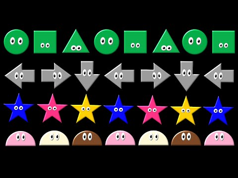 Patterns 2 - ABC Pattern - Shapes, Colors & Direction - The Kids' Picture Show (Fun & Educational)