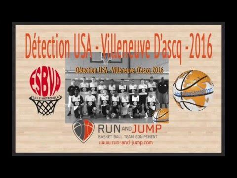 Détection USA 2016 - Villeneuve d'ascq basket - MATCH 1 matin