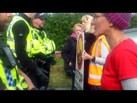 Kirby Misperton 1 hour slow walk against Fracking in North Yorkshire