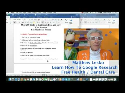 Google Search Secrets for Finding Free Health Care & Dental Care
