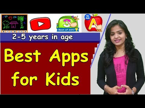 4 Best Education Apps For Kids 2018 |  Must Have Apps For 2-3 Years Old Kids | [Hindi]