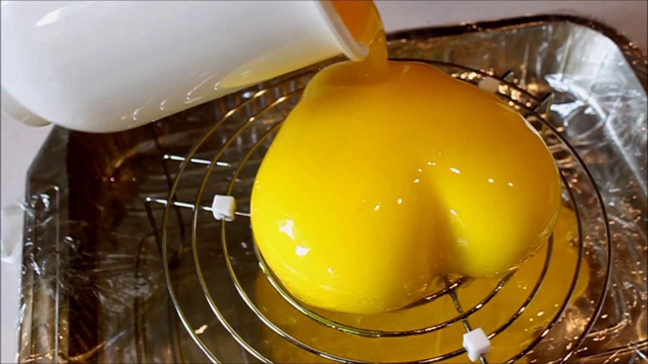 Glassaggio mousse con glassa a specchio al limone youtube - Glassa a specchio knam ...