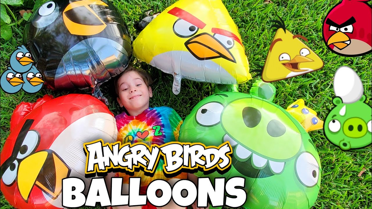 Angry Birds BALLOONS Party Review - Guess Who POPPED!