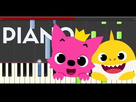 Baby Shark Pinkfong Animal SongPiano Midi tutorial Sheet app Cover Karaoke