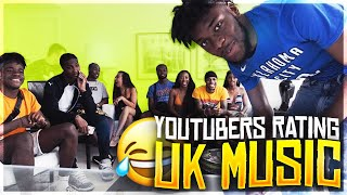 YOUTUBERS RATING UK MUSIC OUT OF 10 PART 2 (MIAMI EDITION) *STORMZY VOSSI BOP*