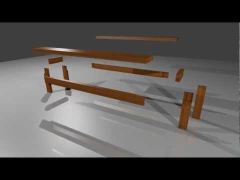 houten bank maken van vloerbalken youtube