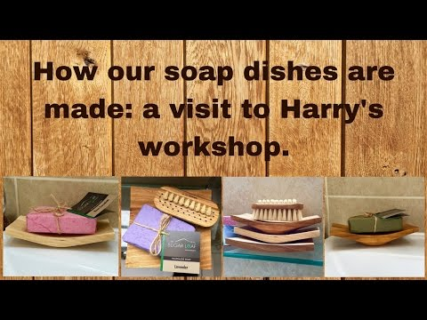 Making wood-turned soap dishes with Harry Chapman...