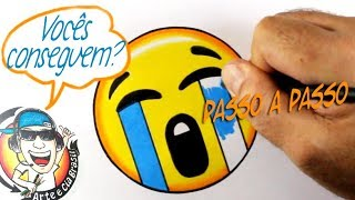COMO DESENHAR EMOJI CHORANDO - HOW TO DRAW EMOJI CRYING