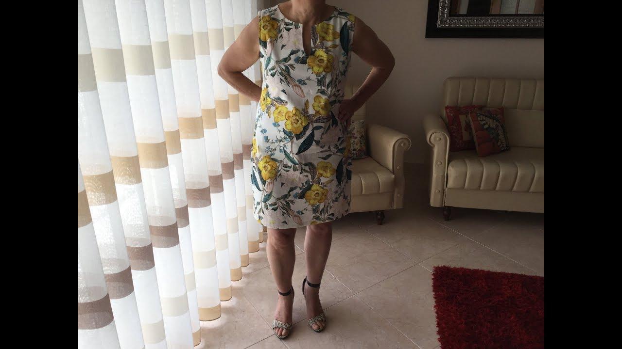 a39c16a0dc Coudre une Robe droite - Tuto Couture Madalena - YouTube