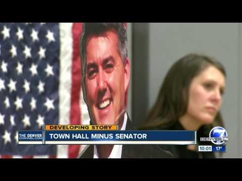 Town hall minus Sen. Cory Gardner