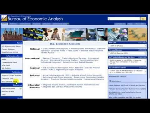 How to Search the Bureau of Economic Analysis